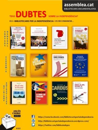 Cartell recomanacions bibliogràfiques